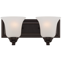 Nuvo 60/5692 Elizabeth 2 Light 14 inch Sudbury Bronze Vanity Light Wall Light