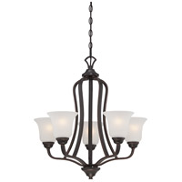 Nuvo Elizabeth 5 Light Chandelier in Sudbury Bronze 60/5695