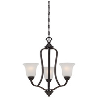 Nuvo 60/5696 Elizabeth 3 Light 22 inch Sudbury Bronze Chandelier Ceiling Light