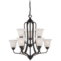 Nuvo 60/5699 Elizabeth 9 Light 27 inch Sudbury Bronze Chandelier Ceiling Light
