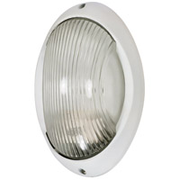 Nuvo Lighting Signature 1 Light Outdoor Wall Lantern in Semi Gloss white 60/570
