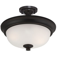 Nuvo Elizabeth 2 Light Semi-Flush Mount in Sudbury Bronze 60/5700