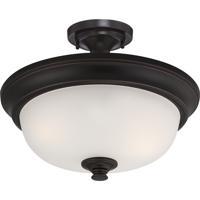 Nuvo 60/5700 Elizabeth 2 Light 18 inch Sudbury Bronze Semi-Flush Mount Ceiling Light