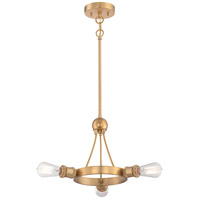 Paxton 3 Light 22 inch Natural Brass Pendant Ceiling Light