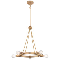 Paxton 5 Light 28 inch Natural Brass Chandelier Ceiling Light
