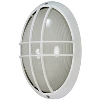 Nuvo Lighting Signature 1 Light Outdoor Wall Lantern in Semi Gloss white 60/572