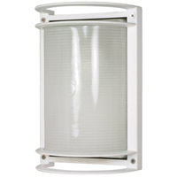 Nuvo Lighting Signature 1 Light Outdoor Wall Lantern in Semi Gloss white 60/574