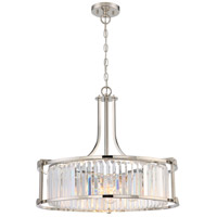 Krys 4 Light 25 inch Polished Nickel Pendant Ceiling Light