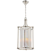 Krys 4 Light 15 inch Polished Nickel Chandelier Ceiling Light