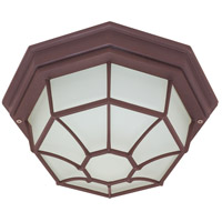 Nuvo 60/579 Signature 1 Light 11 inch Old Bronze Outdoor Flushmount
