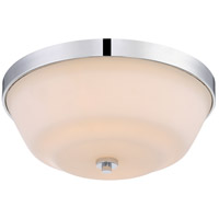 Willow 14 inch Polished Nickel Flush Mount Ceiling Light