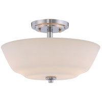 Willow 13 inch Polished Nickel Semi Flush Mount Ceiling Light