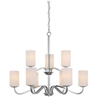 Nuvo 60/5809 Willow 9 Light 32 inch Polished Nickel Chandelier Ceiling Light