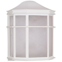 Nuvo 60/581 Signature 1 Light 10 inch White Outdoor Wall Lantern
