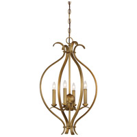 Nuvo 60/5810 Dillard 4 Light 16 inch Natural Brass Pendant Ceiling Light