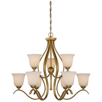 Dillard 9 Light 31 inch Natural Brass Chandelier Ceiling Light