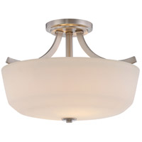 Laguna 2 Light 15 inch Brushed Nickel Semi Flush Mount Ceiling Light