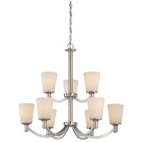 Laguna 9 Light 31 inch Brushed Nickel Chandelier Ceiling Light