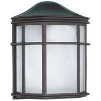 Nuvo 60/583 Signature 1 Light 10 inch Textured Black Outdoor Wall Lantern