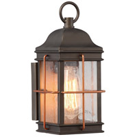Howell 1 Light 11 inch Bronze with Copper Accents Outdoor Wall Light