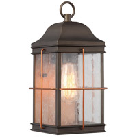 Howell 1 Light 14 inch Bronze with Copper Accents Outdoor Wall Light