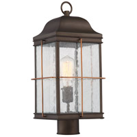 Howell 1 Light 17 inch Bronze with Copper Accents Post Lantern