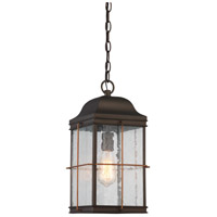Howell 1 Light 9 inch Bronze with Copper Accents Outdoor Hanging Lantern
