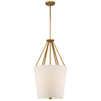 Nuvo 60/5844 Seneca 3 Light 17 inch Natural Brass Pendant Ceiling Light