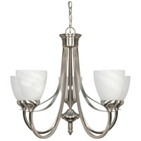 Nuvo 60/585 Triumph 5 Light 24 inch Brushed Nickel Chandelier Ceiling Light