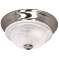 Triumph 1 Light 11 inch Brushed Nickel Flushmount Ceiling Light