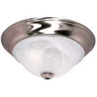 Triumph 2 Light 13 inch Brushed Nickel Flushmount Ceiling Light