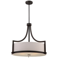 Meadow 4 Light 24 inch Russet Bronze Pendant Ceiling Light