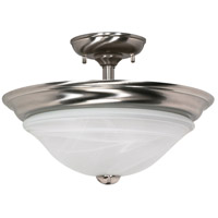 Nuvo Lighting Triumph 2 Light Semi-Flush in Brushed Nickel 60/589