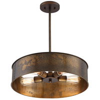 Kettle 4 Light 20 inch Weathered Brass Pendant Ceiling Light