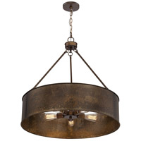 Kettle 5 Light 30 inch Weathered Brass Pendant Ceiling Light
