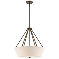 Seneca 4 Light 22 inch Mahogany Bronze Pendant Ceiling Light