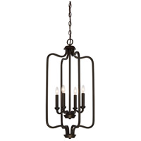 Willow 4 Light 14 inch Forest Bronze Pendant Ceiling Light