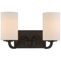 Willow 2 Light 14 inch Forest Bronze Vanity Light Wall Light