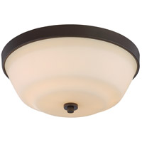 Willow 2 Light 14 inch Forest Bronze Flush Mount Ceiling Light