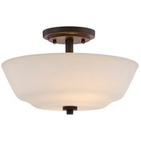 Willow 2 Light 13 inch Forest Bronze Semi Flush Mount Ceiling Light