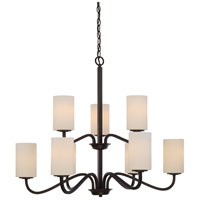 Willow 9 Light 32 inch Forest Bronze Chandelier Ceiling Light