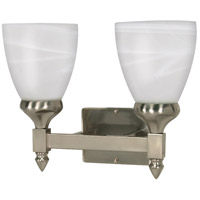 Nuvo 60/592 Triumph 2 Light 13 inch Brushed Nickel Vanity & Wall Wall Light