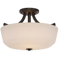 Laguna 2 Light 15 inch Forest Bronze Semi Flush Mount Ceiling Light