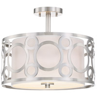 Nuvo 60/5948 Filigree 2 Light 15 inch Brushed Nickel Semi Flush Mount Ceiling Light