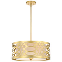 Nuvo 60/5964 Filigree 3 Light 18 inch Natural Brass Pendant Ceiling Light