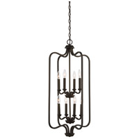 Willow 8 Light 17 inch Forest Bronze Pendant Ceiling Light