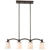 Laguna 4 Light 33 inch Forest Bronze Island Pendant Ceiling Light