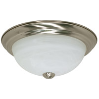 Nuvo 60/6000 Brentwood 2 Light 11 inch Brushed Nickel Flush Mount Ceiling Light