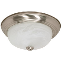 Nuvo 60/6001 Signature 2 Light 13 inch Brushed Nickel Flush Mount Ceiling Light