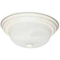 Nuvo 60/6004 Signature 2 Light 11 inch Textured White Flush Mount Ceiling Light